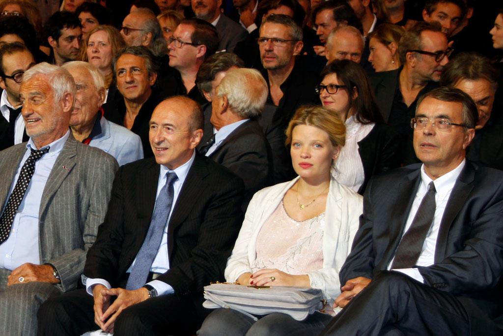 Jean-Jack QUEYRANNE, Mélanie THIERRY , Gérard COLLOMB et Jean-Paul BELMONDO - 2013 © Anik COUBLE