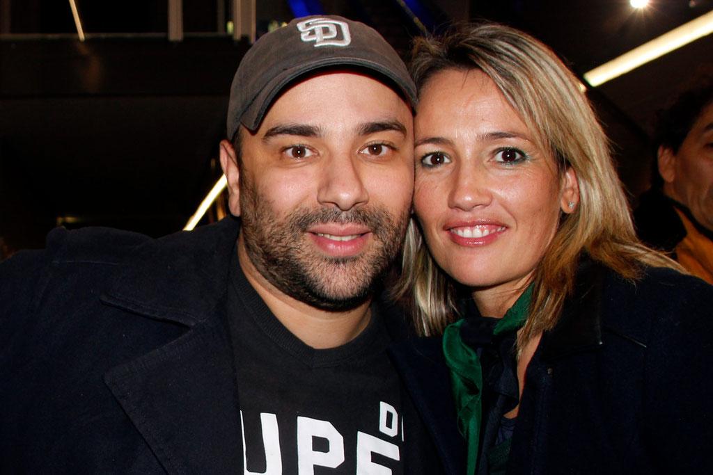 """Nabil Ben Yadir, et Soraya Benballa, lors de l'avant-Première du film """"La Marche""""  Lyon - 5 Novembre 2013 - Photo © Anik COUBLE"""