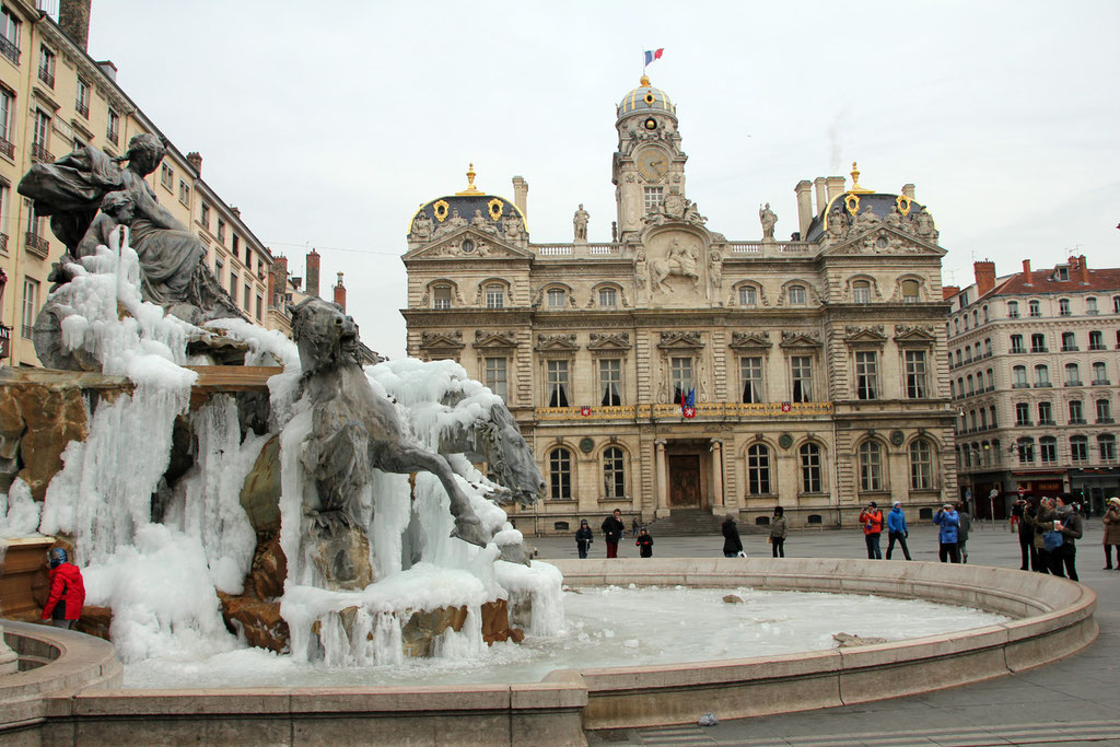 Fontaine Bartholdi, place des Terreaux - Lyon - Févier 2012 - Photo © Anik COUBLE