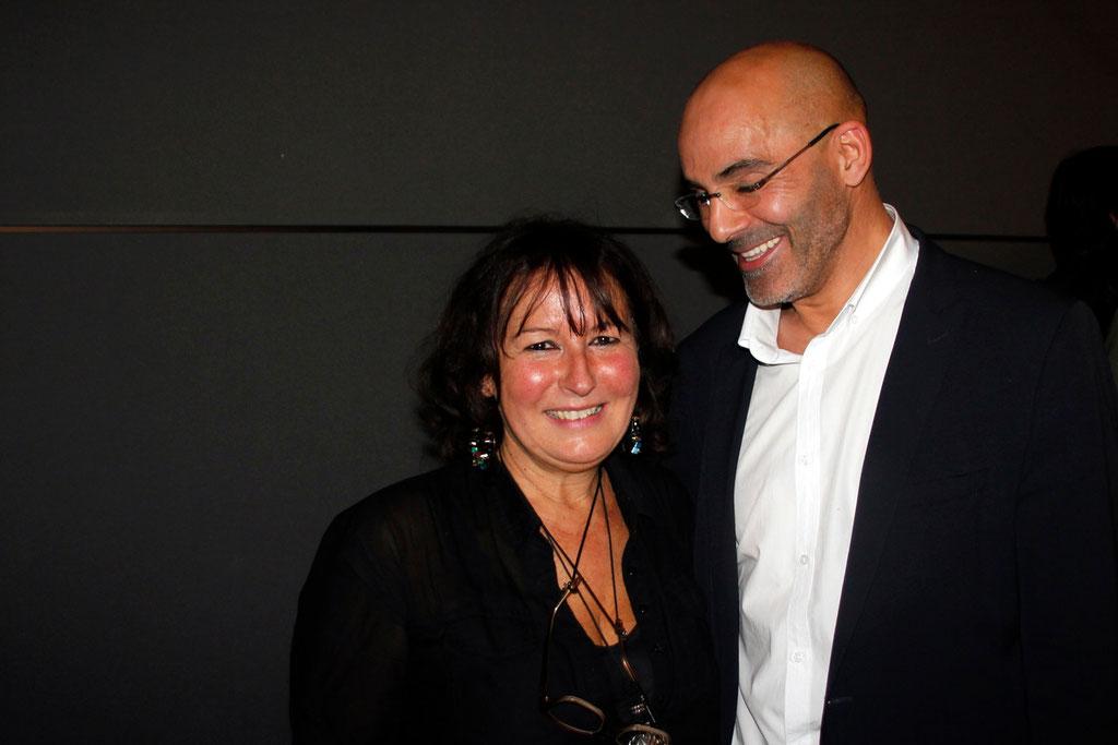 """Toumi Djaïdja et Anik Couble, lors de l'avant-Première du film """"La Marche""""  Lyon - 5 Novembre 2013 - Photo © Anik COUBLE"""