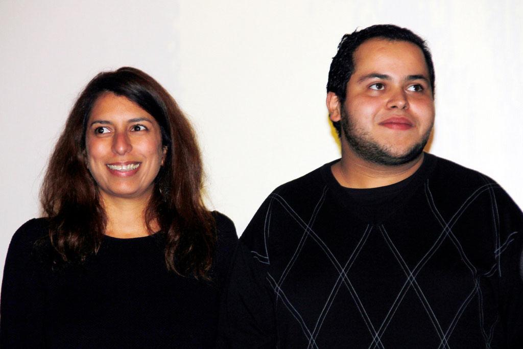 """Nadia Lakhdar, scénariste du film """"La Marche"""" et M'Barek Belkouk, lors de l'avant-Première à Lyon le 5 Novembre 2013 - Photo © Anik COUBLE"""