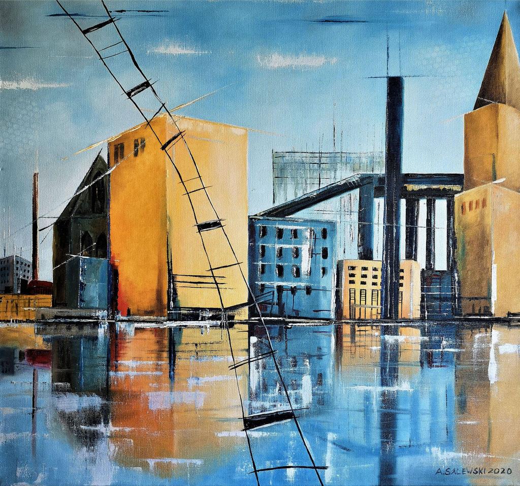 """Urban Industries""  | 2020 | Öl auf Leinwand | 60x60 cm"