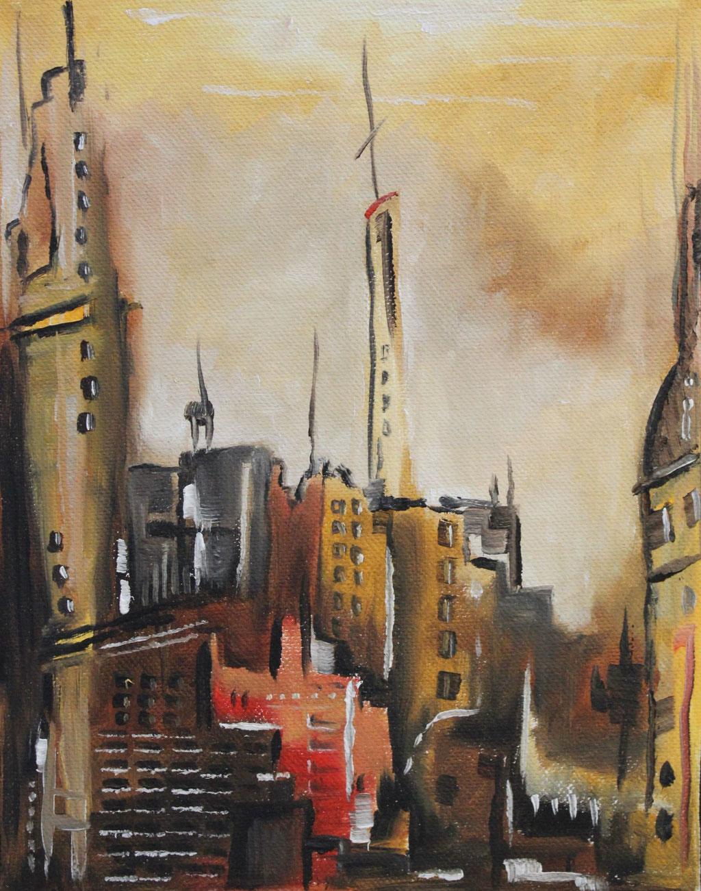 """Urban Landscape"" (Auszug) | 2018 | Öl auf Leinwand"