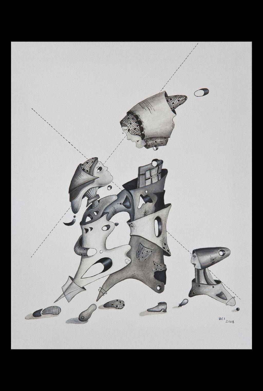 """""""Erwachsen werden 1""""; Öl auf Leinwand, 50x40 cm (Private Sammlung, Berlin)"""