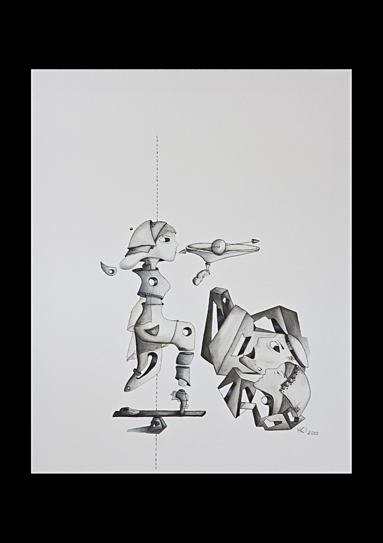 """""""Erwachsen werden 3""""; Öl auf Leinwand, 50x40 cm (Private Sammlung, Berlin)"""