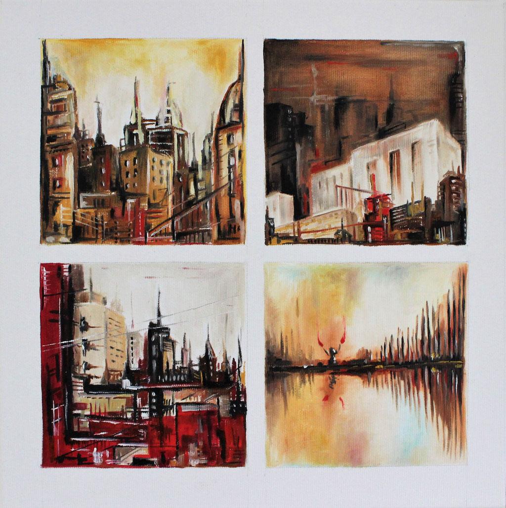 """Urban Landscape"" | Öl auf Leinwand | 30x30 cm"