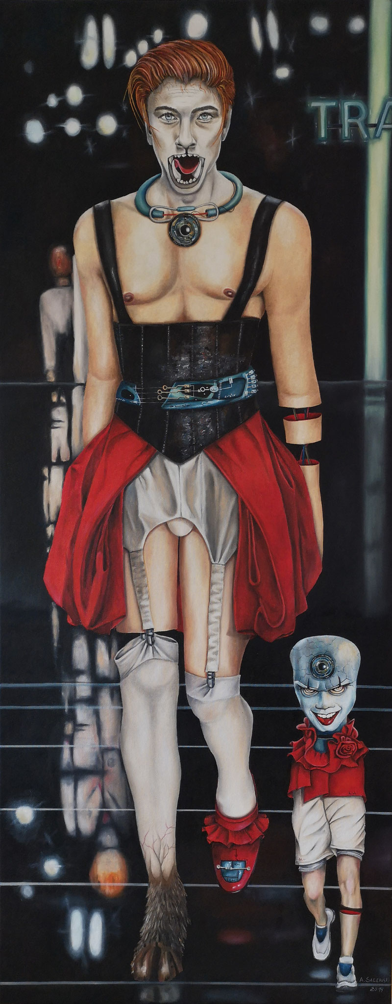 """It's Fashion II"" | 2019 | Öl auf Leinwand | 150x60 cm"