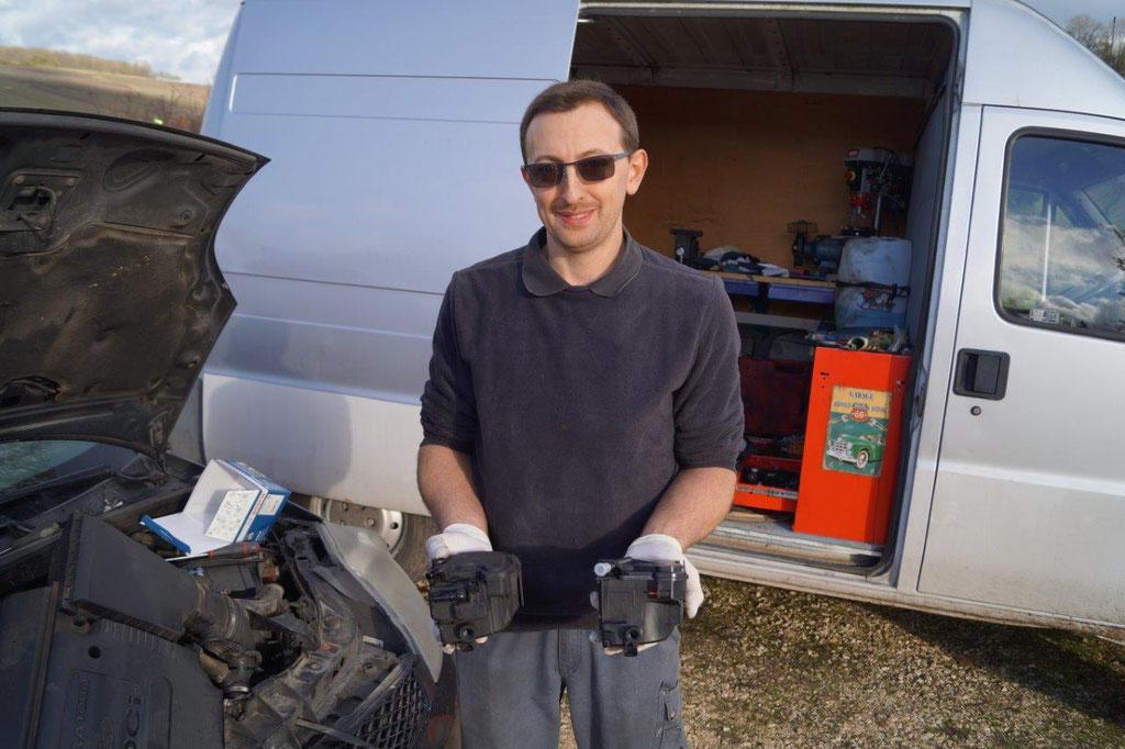 Xavier Quenault utilise les pièces moteur d'origine.
