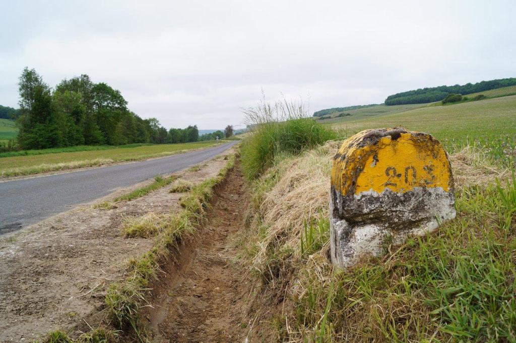La Chapelle-Monthodon : le curage des fossés sur la RD203.