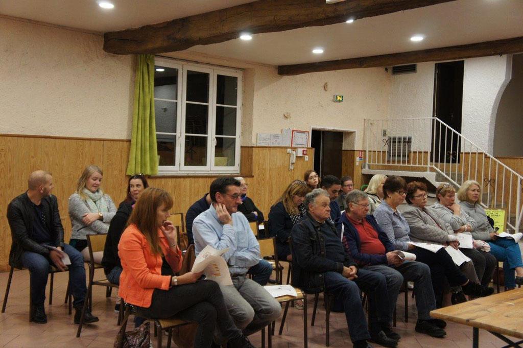 Les adhérents présents ont écouté attentivement les différents intervenants...
