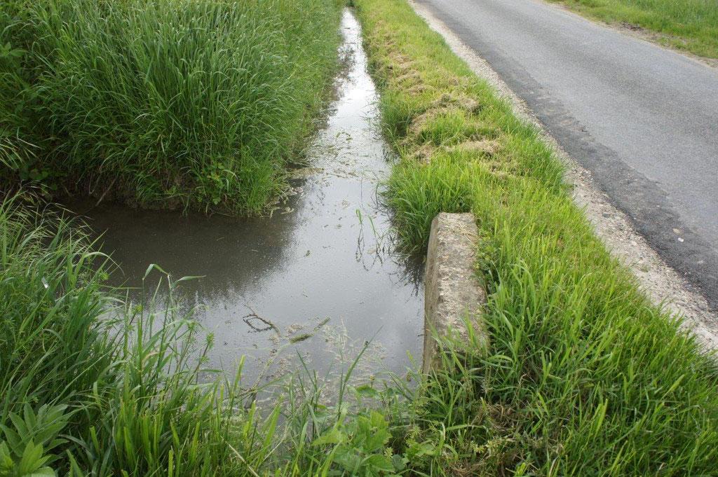 Depuis plusieurs semaines, l'eau s'écoule plus que difficilement par la traversée.