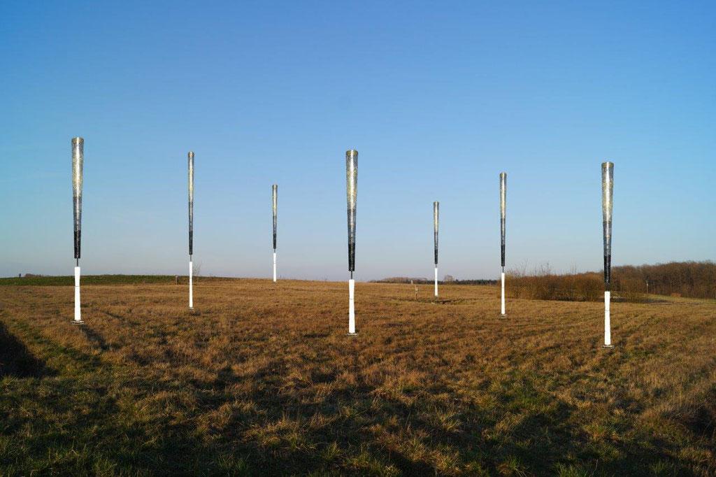 Des éoliennes sans pales se dresseront sur le site en 2020.