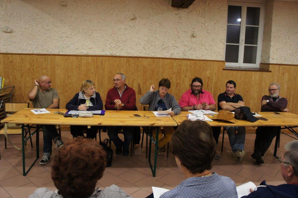 De gauche à droite : Frédéric Deguilhem, Pascale Bré, Madjid Mammar, Françoise Ressouches, Patrick Brosseron, Fabrice Moreau et Eric Rondeaux.