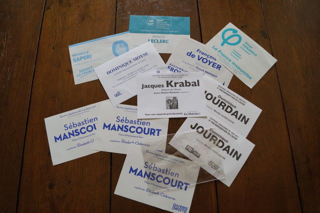 5ème circonscription de l'Aisne : 10 candidats en lice, 11 buletins de vote...