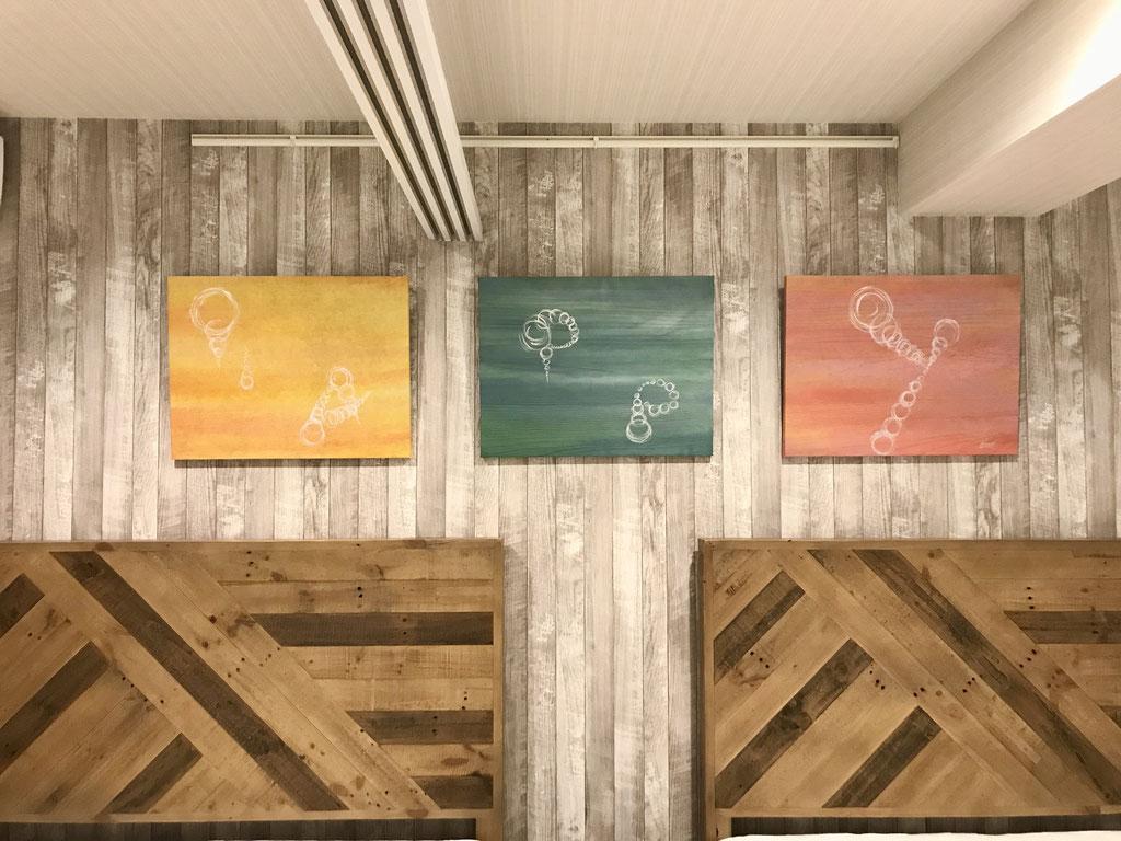 アートパネル 和風インテリア  ホテルインテリア 旅館インテリア アート 書道家 桑名龍希 オーダーメイド