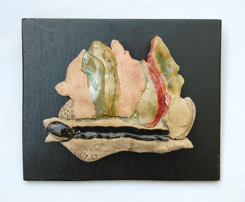 Opus 42 - 2012 - L 15 x H 13 cm (L 19,5 x 16 cm avec cadre) - Faïence
