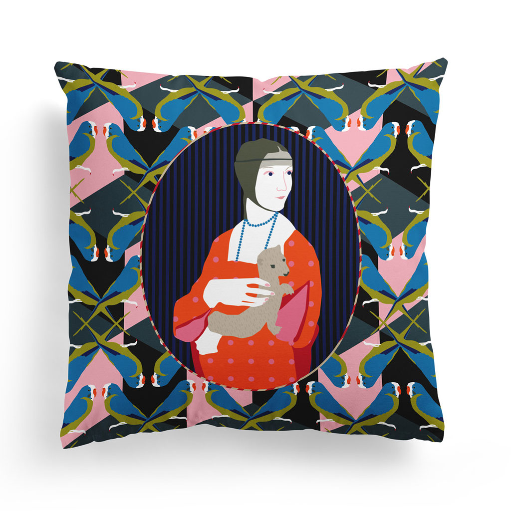 PILLOW »LADY WITH AN ERMINE«