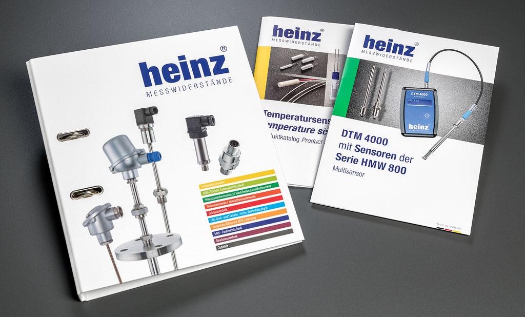H. Heinz Meßwiderstände GmbH, Re-Design: Corporate Design, Produktmappe, Prospekte, Produktfotografie