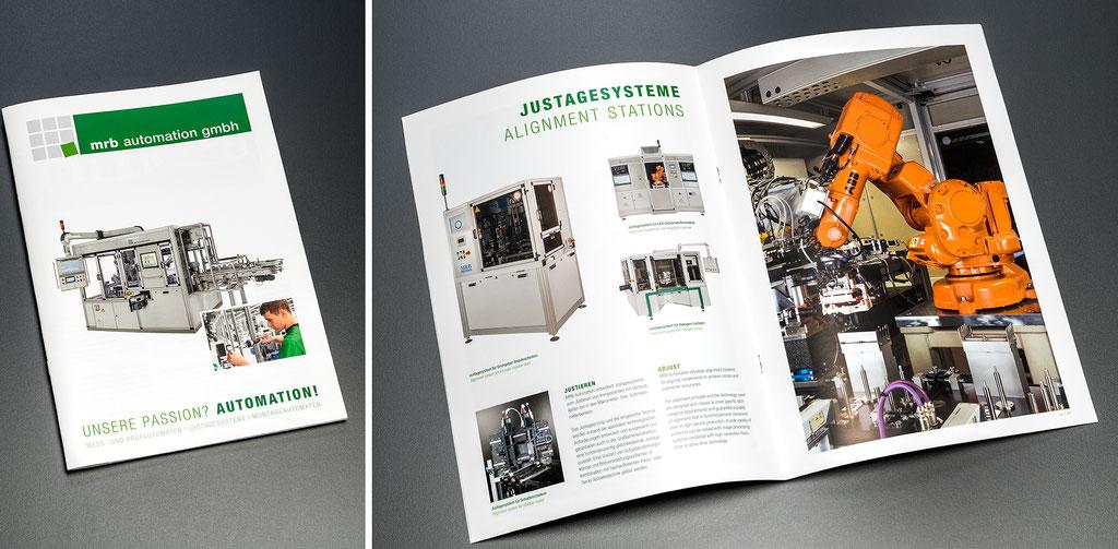 MRB Automation GmbH, Produktbroschüre: Layout, Satz- und Korrekturarbeiten, Industrie- und Studiofotografie