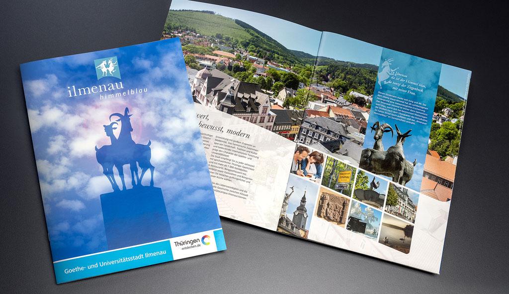 Stadt Ilmenau, Imageprospekt: Kreation, Layout, Satz- und Korrekturarbeiten