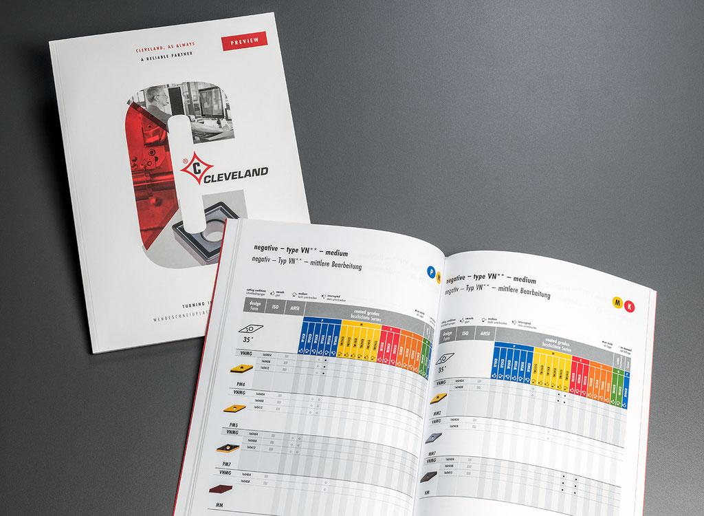 Cleveland, Preview Produktkatalog Wendeschneidplatten: Layout, Satz- und Korrekturarbeiten