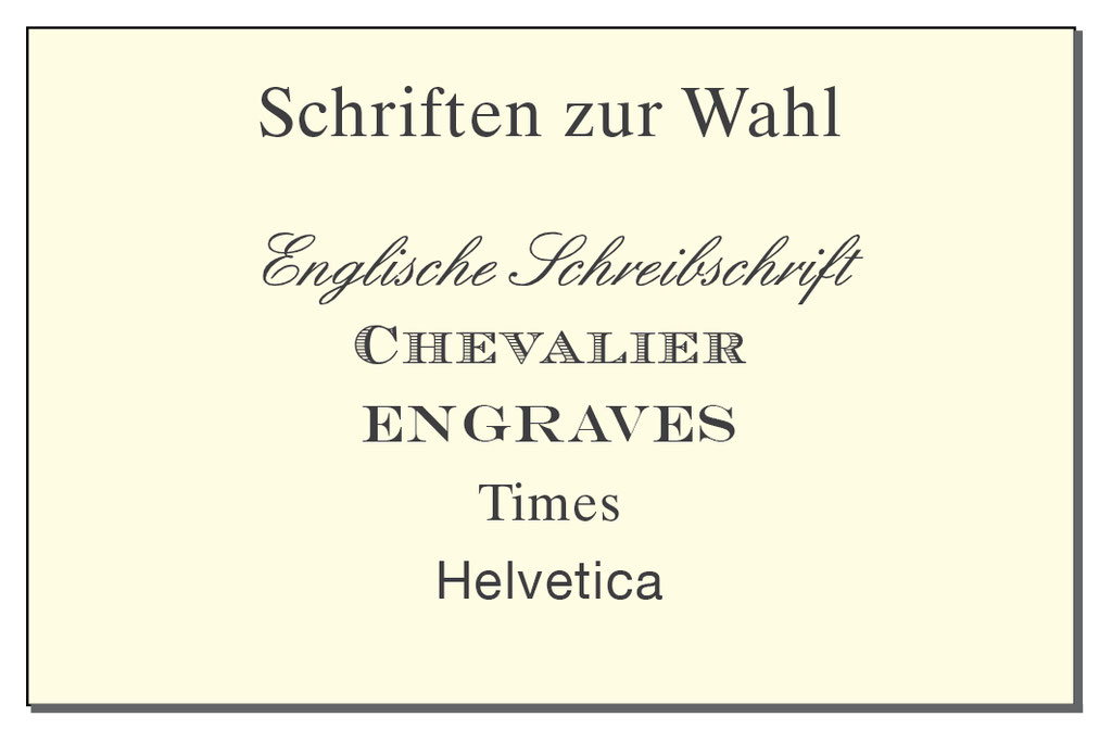 Visitenkarten Englische Schreibschrift 85 X 55 Mm