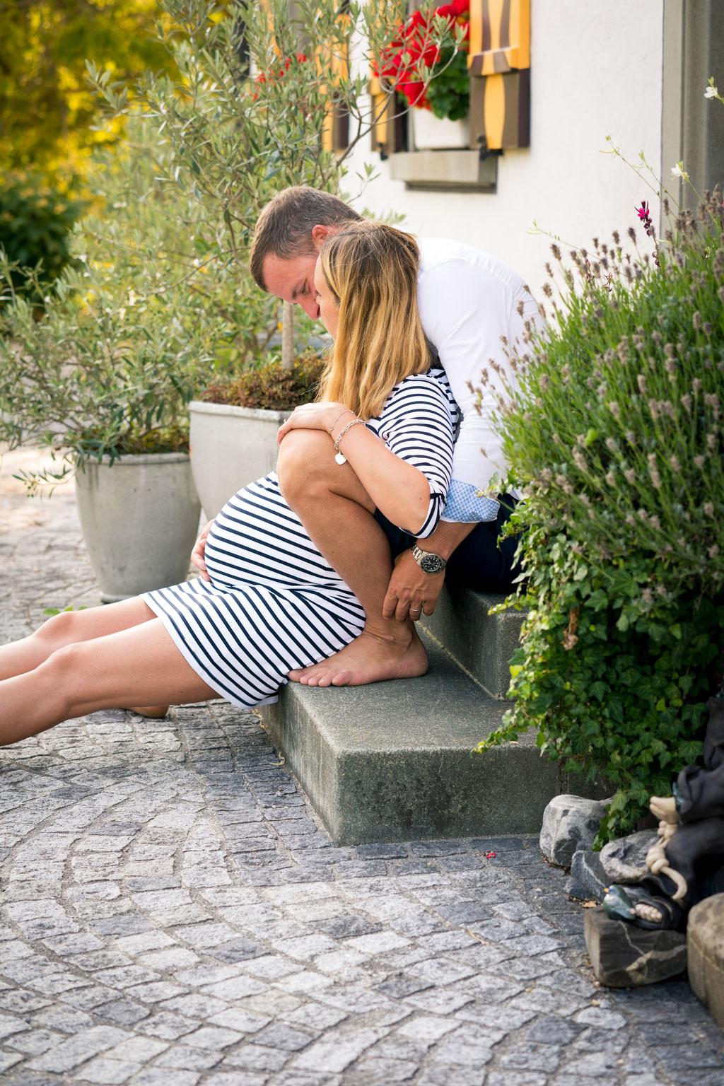 Natürliche Baby Bauch Fotografie Schaffhausen