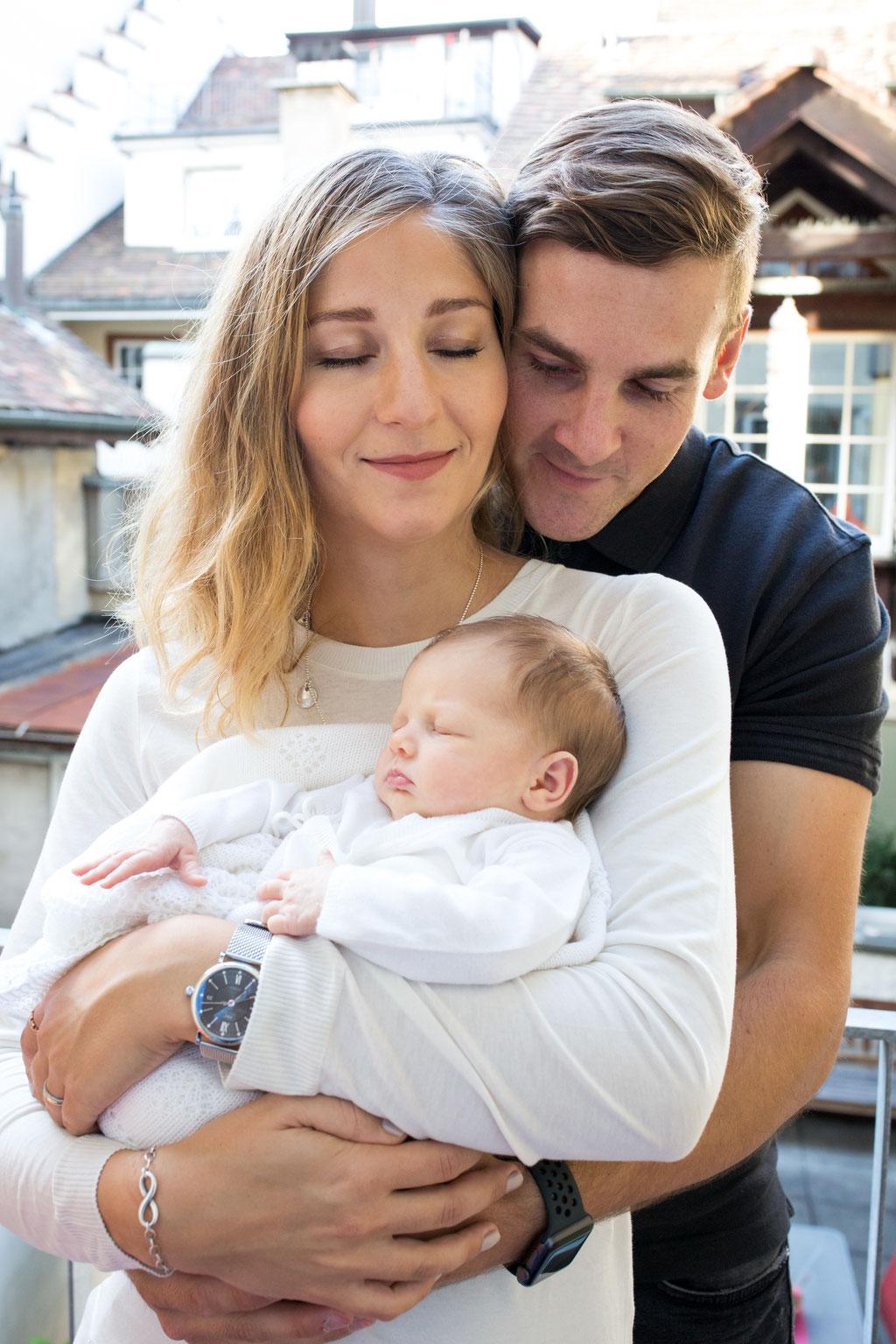 Ungestellte Familien und Babyfotografie