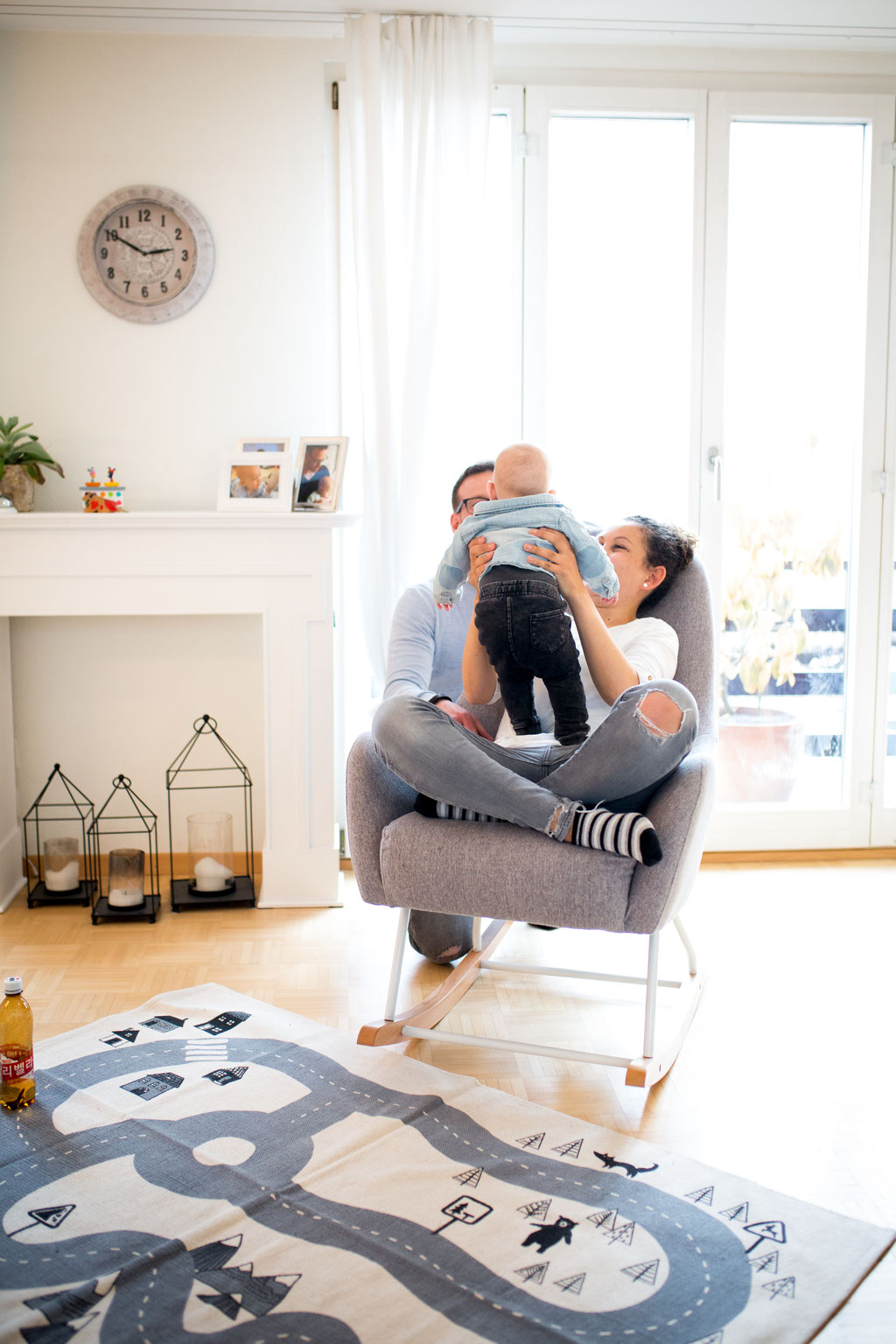 Homestory Fotoshooting Familie Baby Schaffhausen