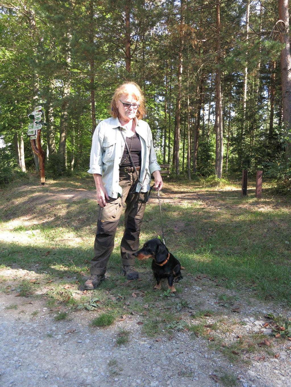 Elke Pfaff-Bender mit Odin vom Sinner Forst