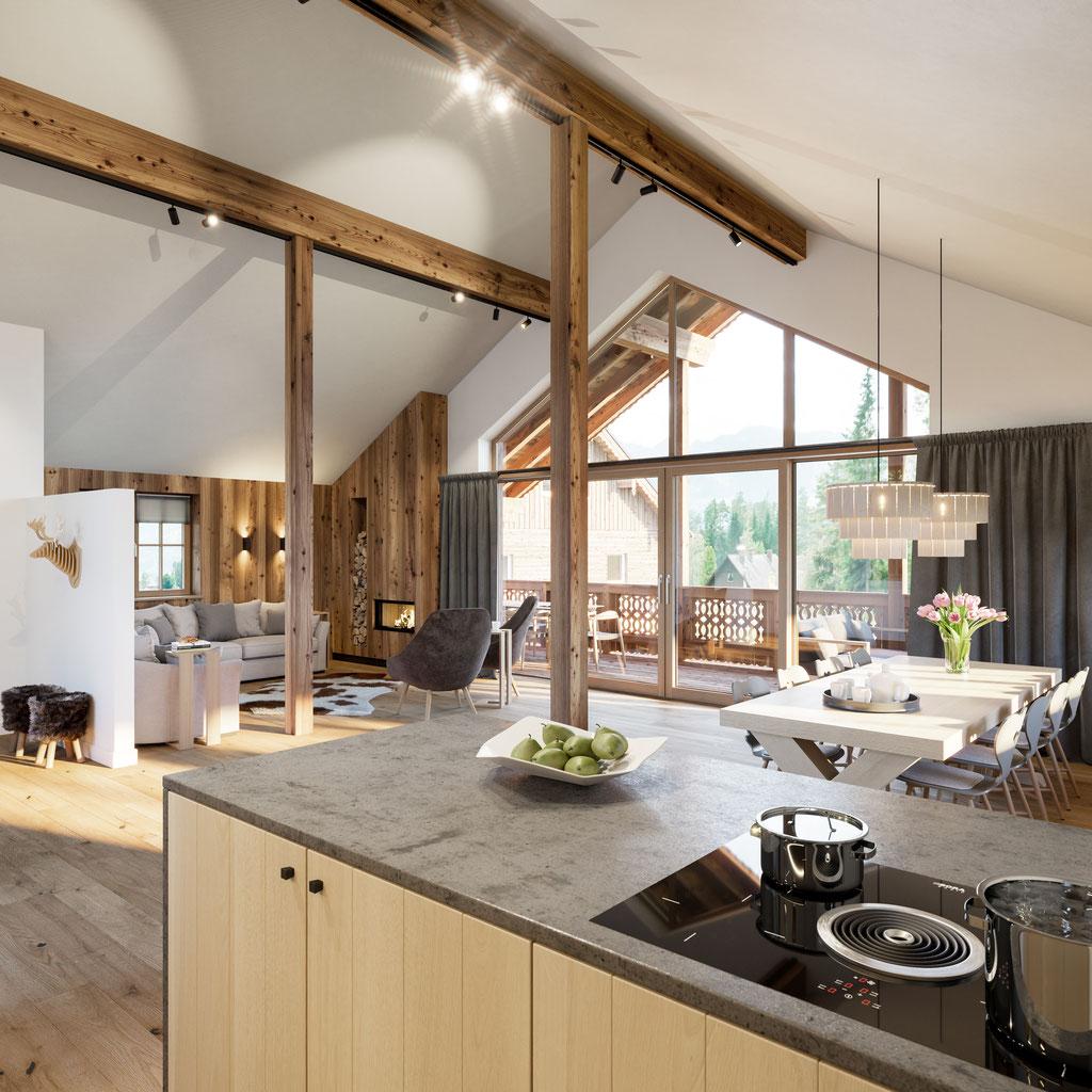 Rendering Küche Haus 10