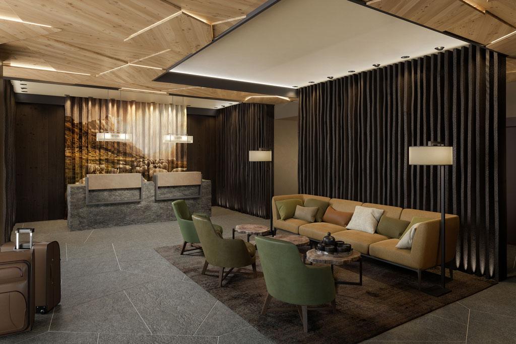 Architekturvisualisierung für Hotel Julen Zermatt