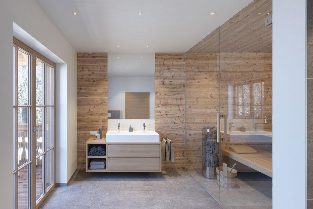 Badezimmer Haus 6 - Interior Rendering