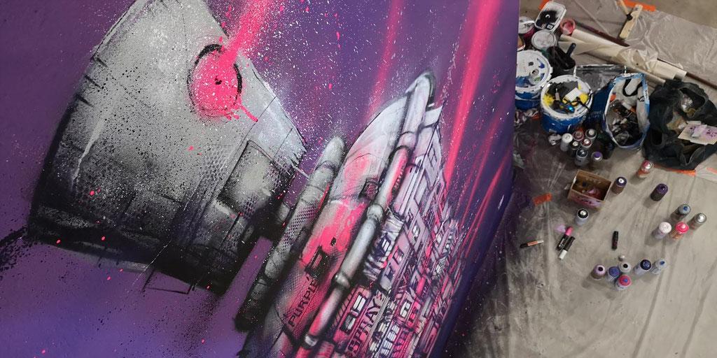 "<alt=""graffiti lyon stade de foot lyonnais OL olympique lyonnais groupama stadium galerie d'art urbain france streetart rhone-alpes auvergne"">"