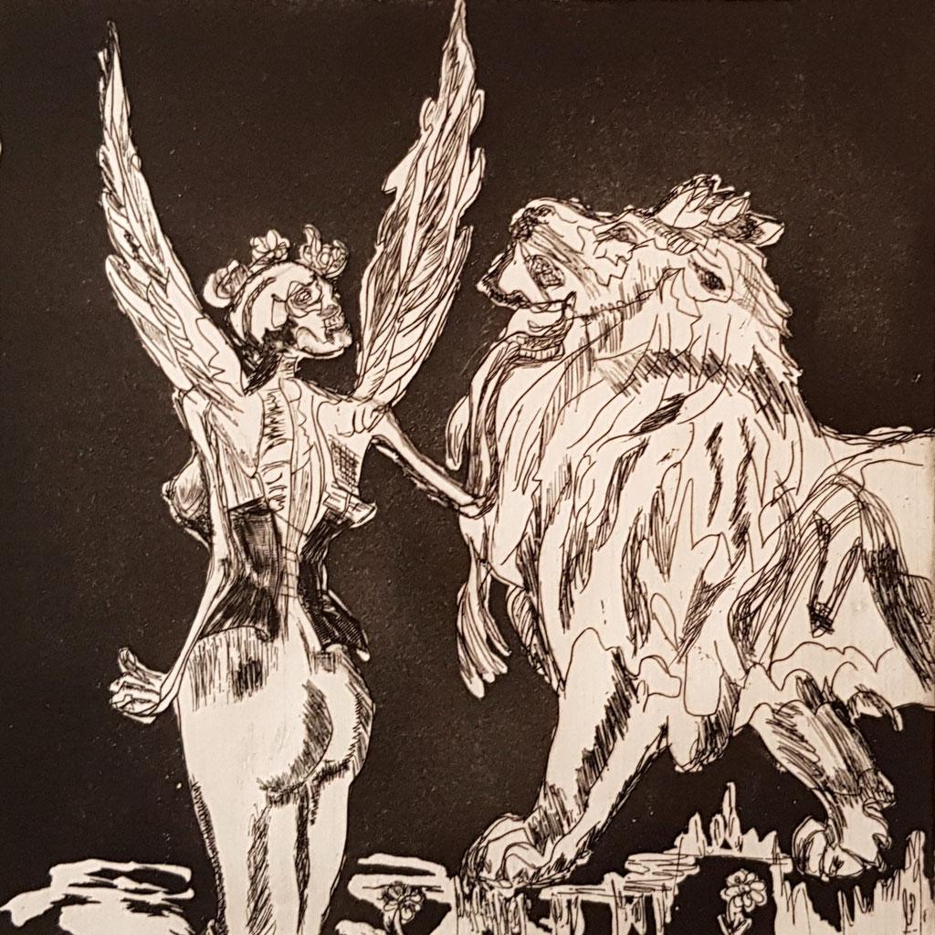 Vanité au lion