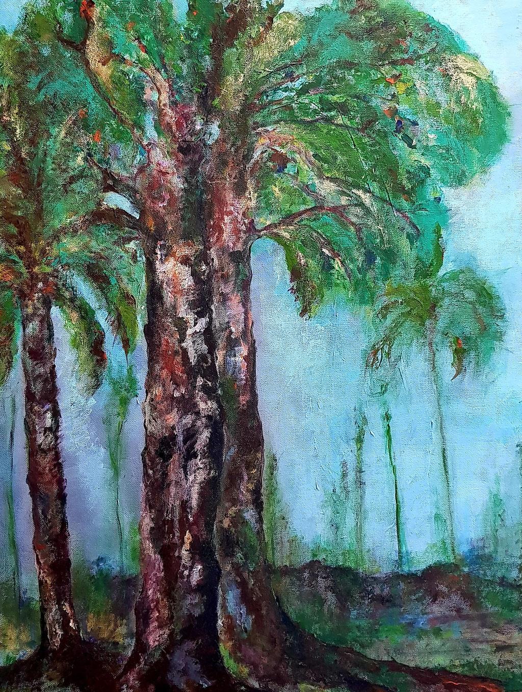 l'Esprit de la forêt-Acrylique-50x65