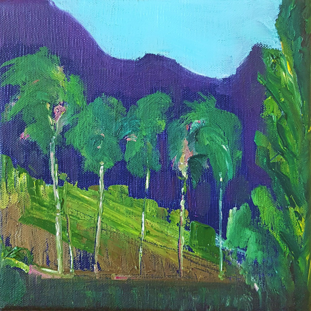 Paysage en Toscane -huile 20x20