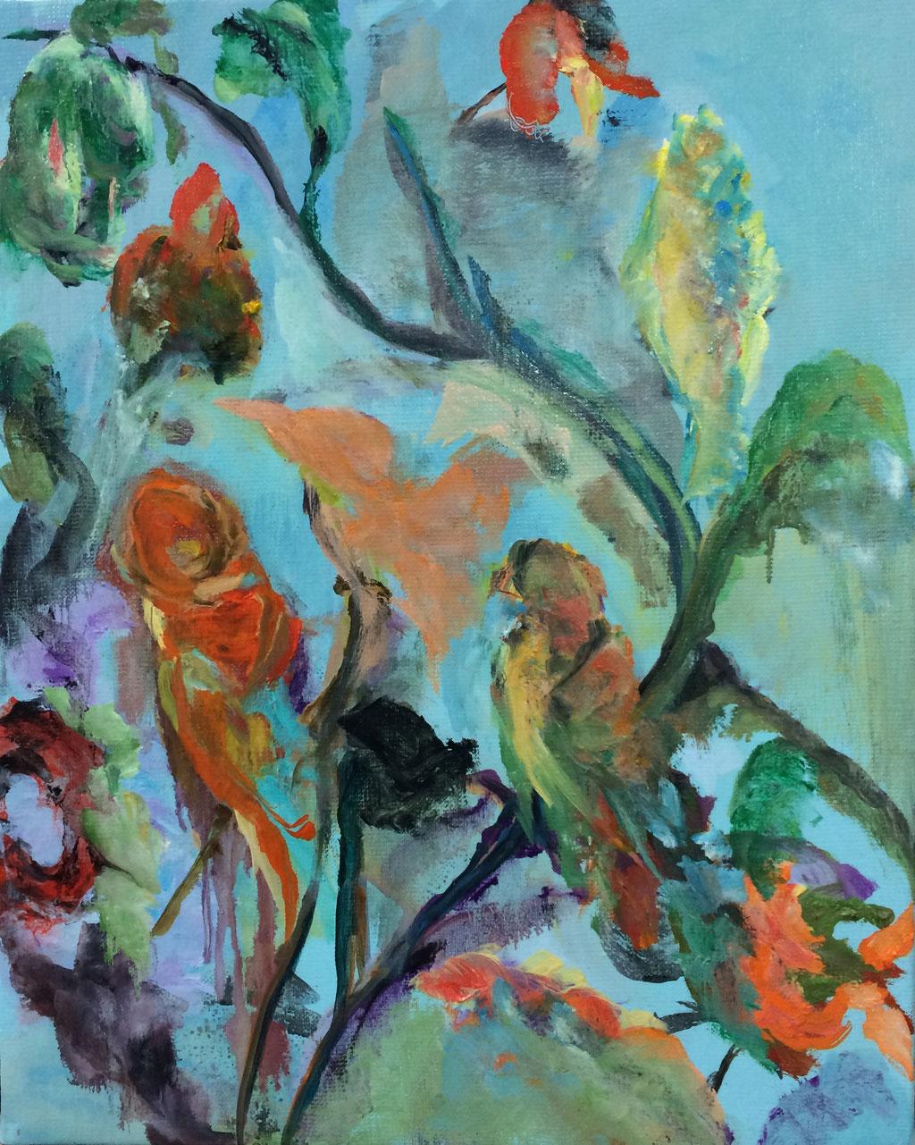 Volière solitaire-huile 41x33