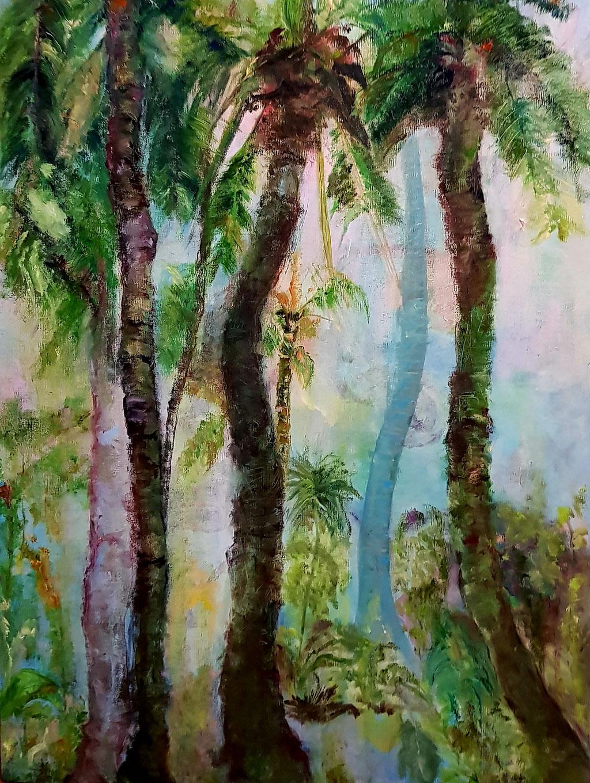 Paysage du Sud -huile-81x60-lin