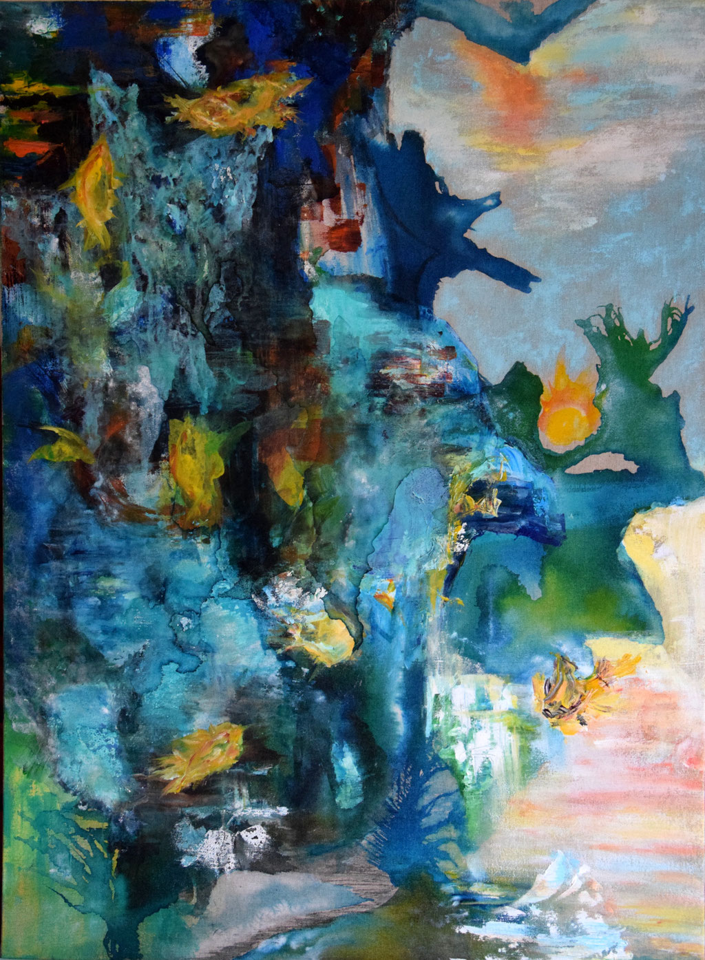 God of Wonder- 100x73- huile Acrilyq- Encres