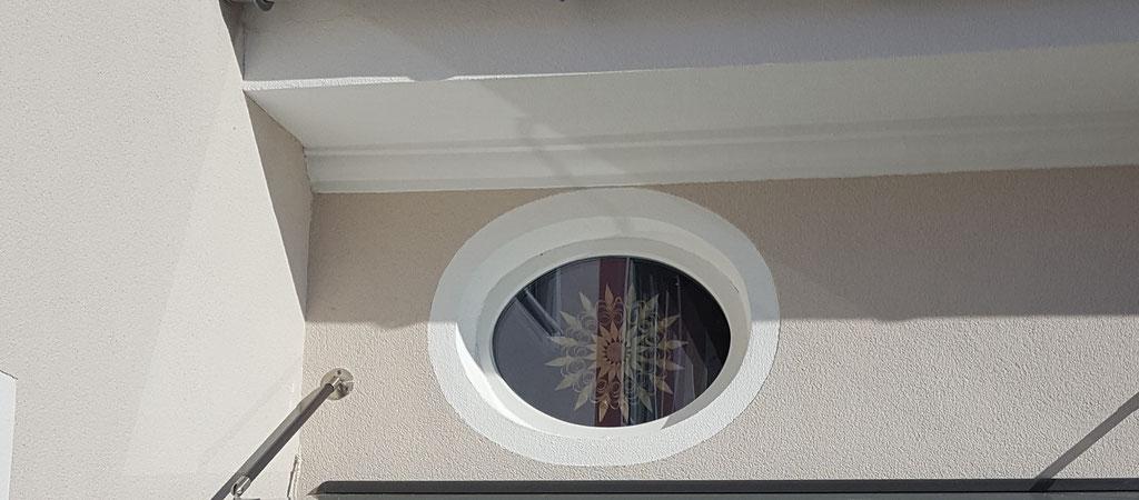 Fenster-Kunststoff rund