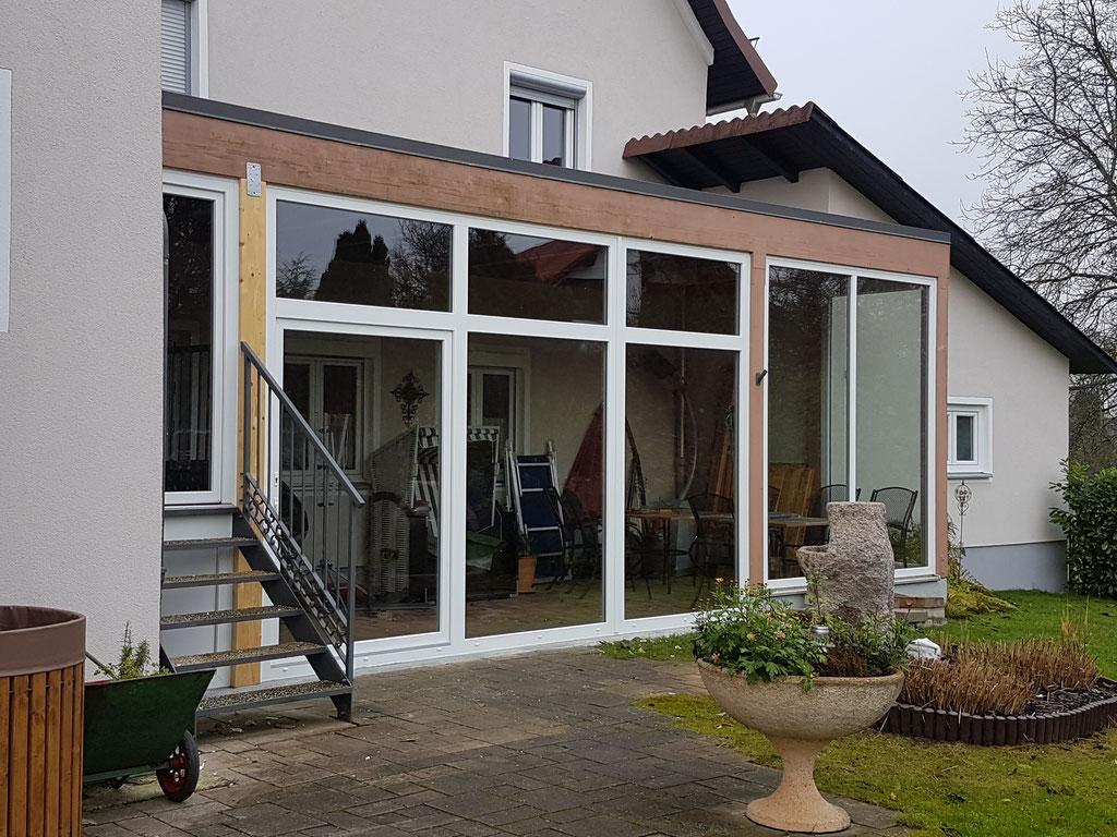 Kunststoff-Schiebetüre Terrassenverglasung
