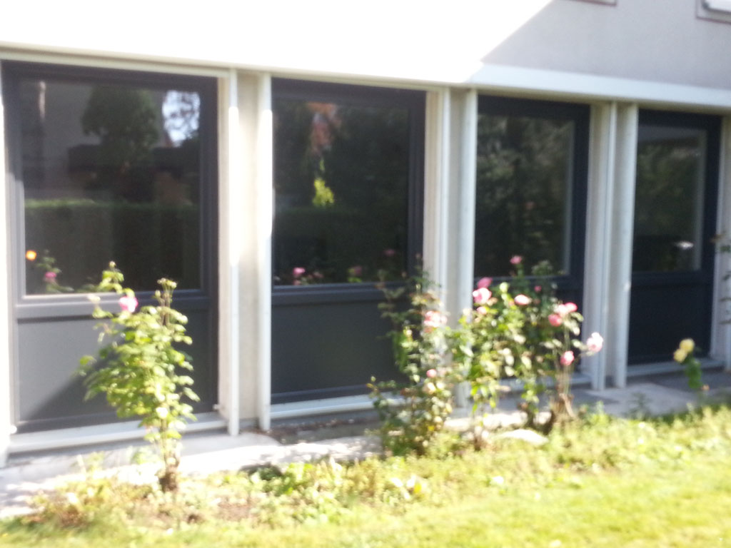 Fenster-Kunststoff anthrazit unten Füllung