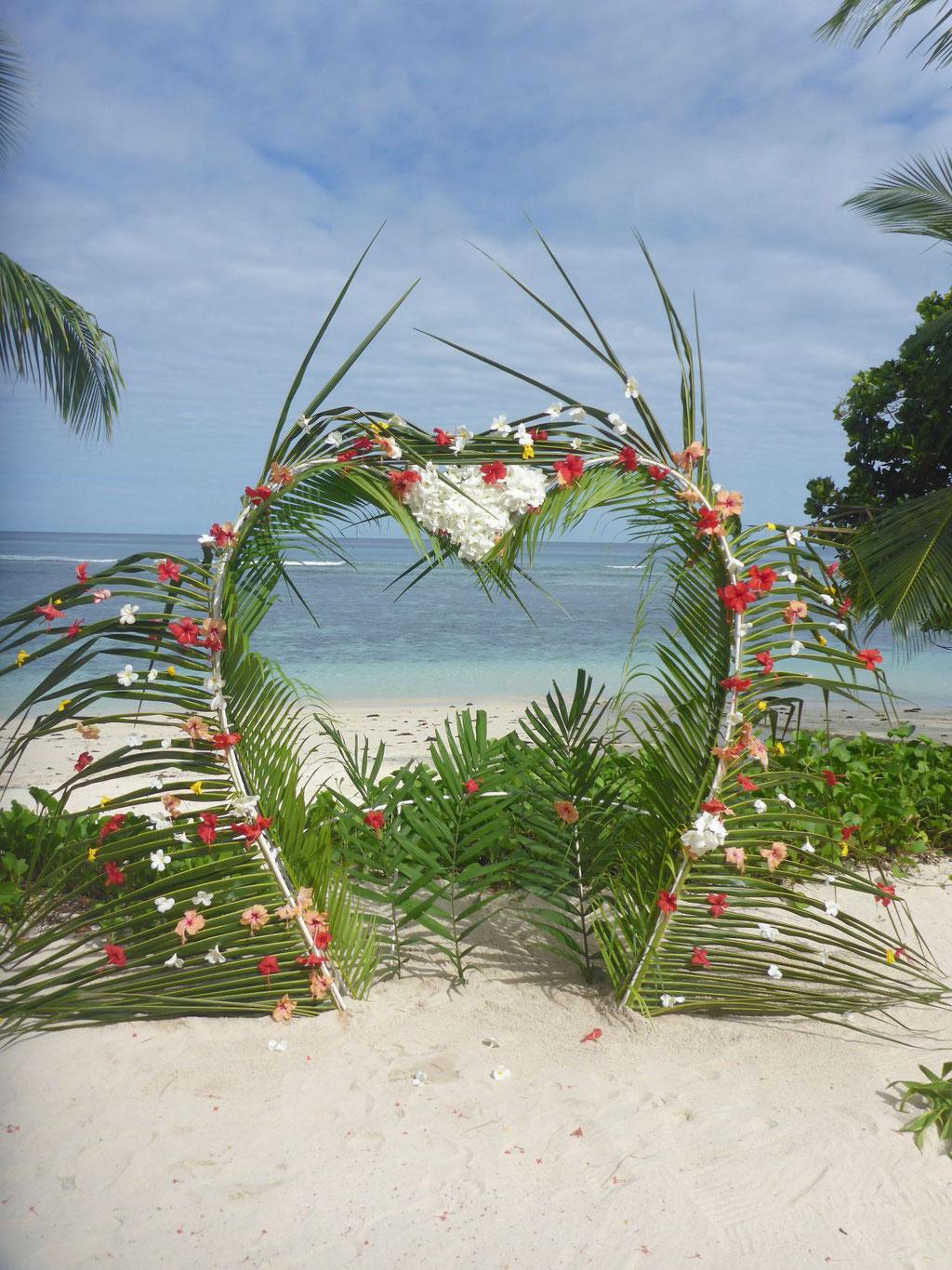 Hochzeit am Strand von Mahe