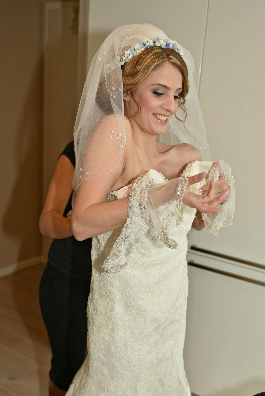 Styling der Braut