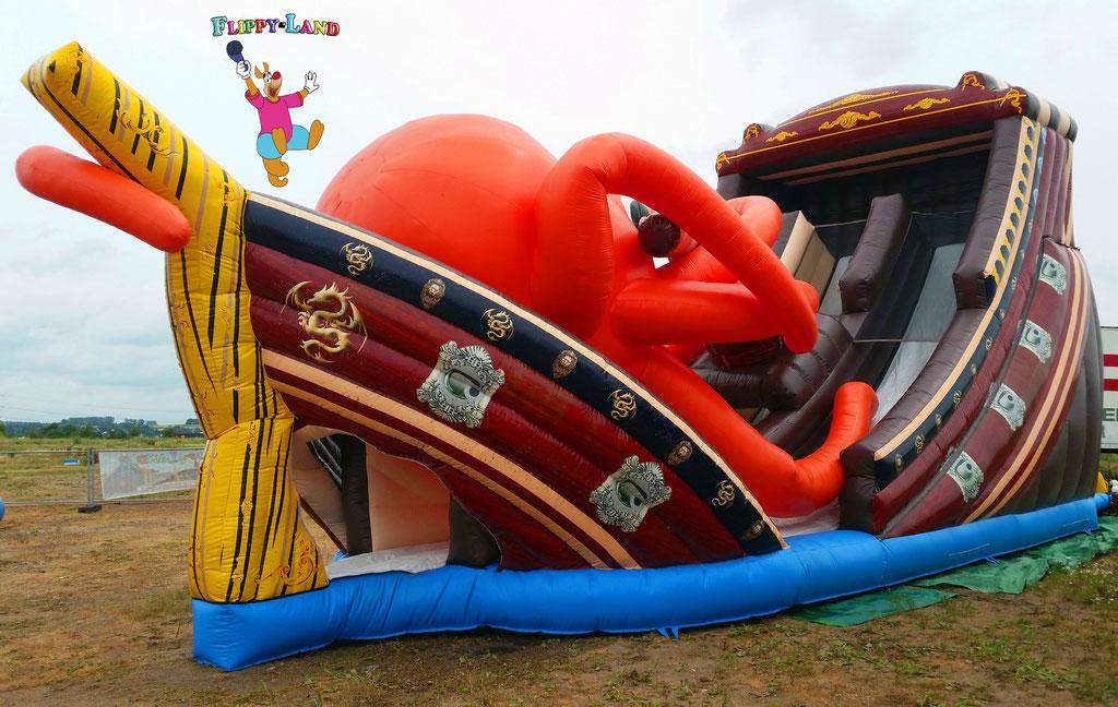 Aufblasbares Riesen Schiff Black Pearl