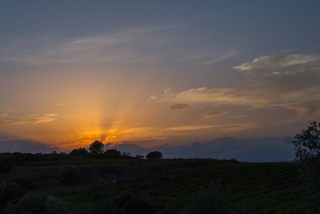 Abendstimmung hoch über Vilajuiga