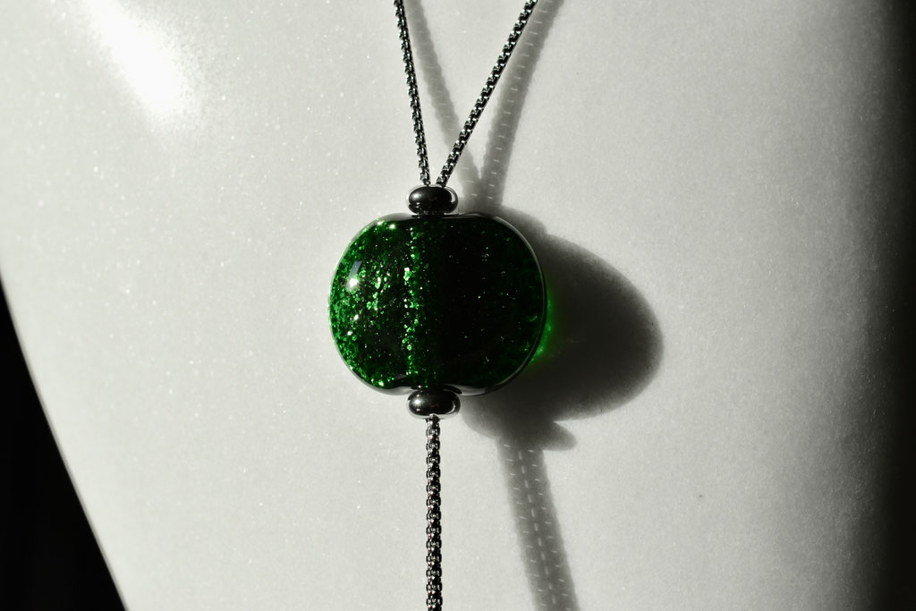 Collana Lou, verde avventurina