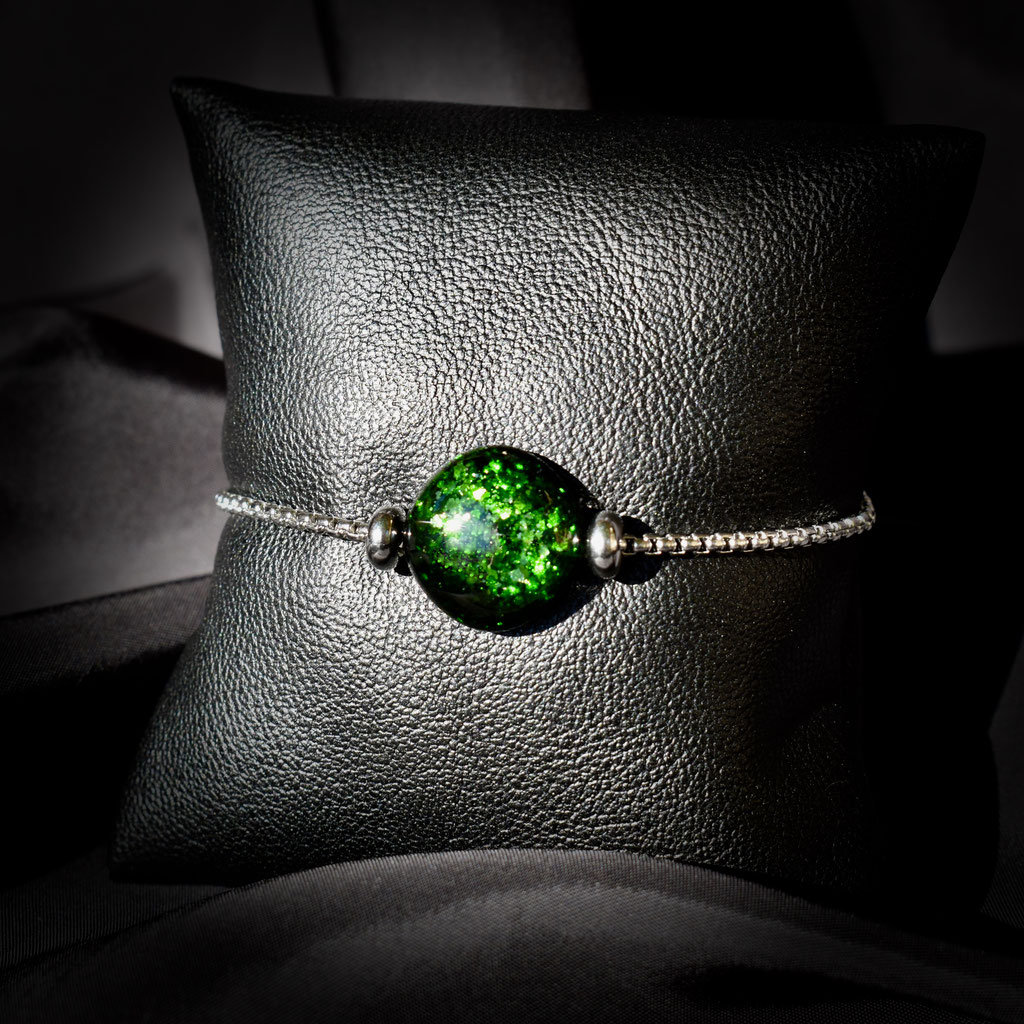 Bracciale Lou piccolo, verde avventurina