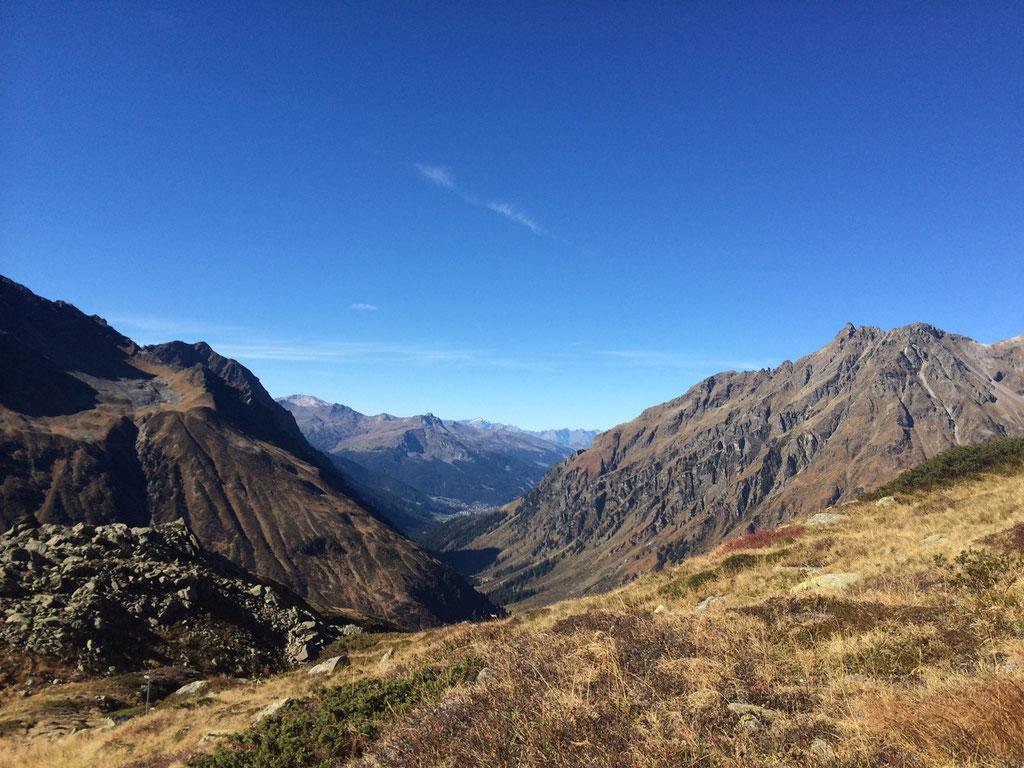 Blick von Silvretta nach Klosters